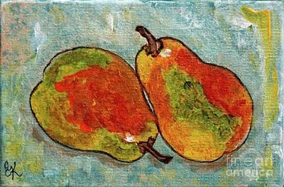 Painting - Pair Of Pears by Ella Kaye Dickey