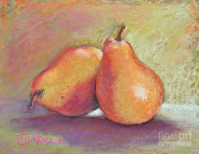 Pair Of Pears Art Print by Joyce A Guariglia