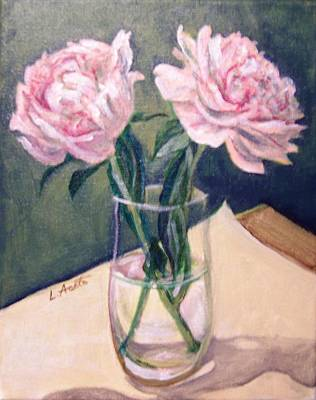 Painting - Pair Of Peonies by Laura Aceto