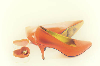 Photograph - Pair Of Red High Heeled Shoes by Patricia Hofmeester
