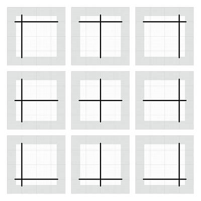 Drawing - Paired Lines - Grid by REVAD David Riley