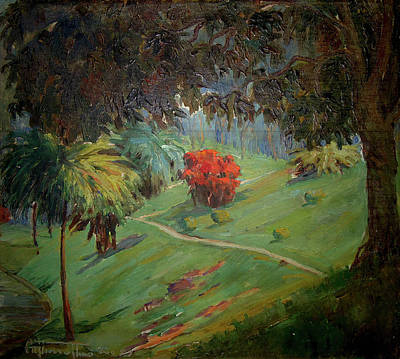 Tim Painting - Paisagem Com Arbusto Vermelho by Arthur Timotheo