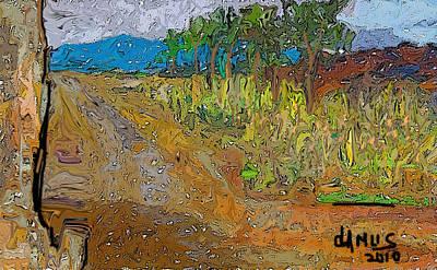 Paisaje - Chile - Campo 1 Art Print by Carlos Camus