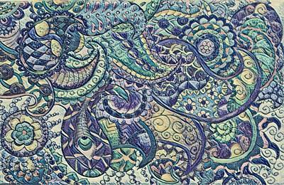 Digital Art - Paisley Abstract by Megan Walsh