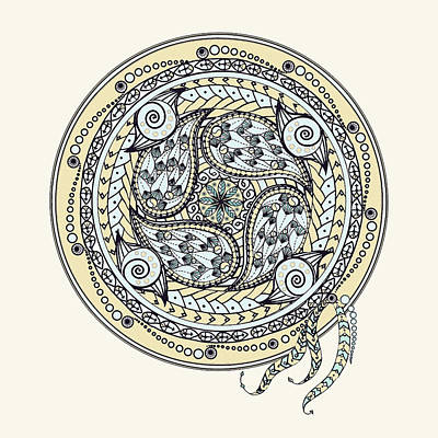 Drawing - Paisley Balance Mandala by Deborah Smith