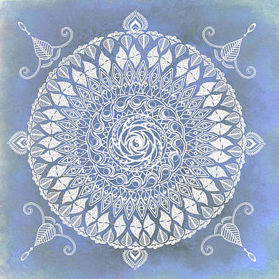 Mixed Media - Paisley Moon Henna Mandala by Deborah Smith