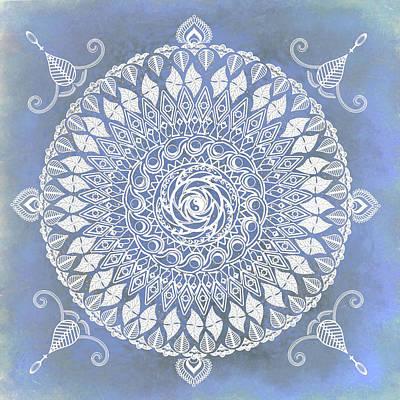 Mixed Media - Paisley Moon Henna Mandala by Deborah Smith
