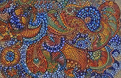 Digital Art - Paisley Mosaic 1 by Megan Walsh