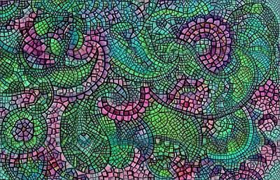 Digital Art - Paisley Mosaic 2 by Megan Walsh