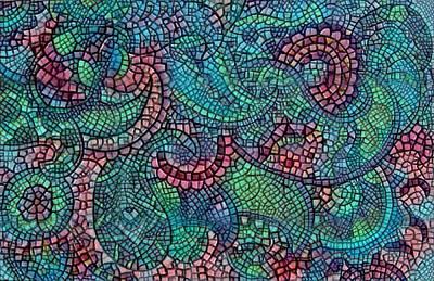 Digital Art - Paisley Mosaic 3 by Megan Walsh