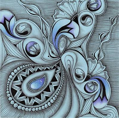 Drawing - Paisley Power by Jan Steinle