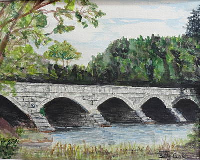 Pakenham Bridge Art Print by Betty-Anne McDonald