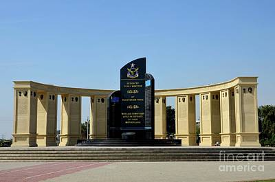 Photograph - Pakistan Air Force Martyrs Monument Honoring Dead Pakistani Airmen At Paf Museum Karachi Pakistan by Imran Ahmed