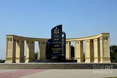 Photograph - Pakistan Air Force Martyrs Monument Honoring Dead Pakistani Airmen At Paf Museum Karachi Pakistan by Imran Ahmed