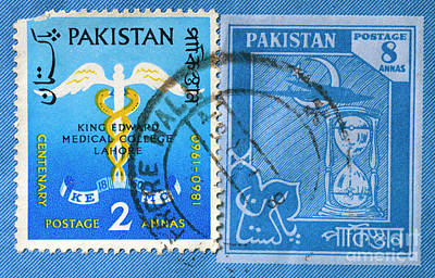 Photograph - Pakistan Postage Stamp by Paul W Faust - Impressions of Light