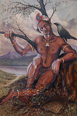 Devotional Painting - Pakkanar's Salvation by Anup Roy