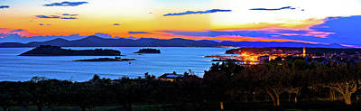 Photograph - Pakostane And Pasman Islands Evening View by Brch Photography