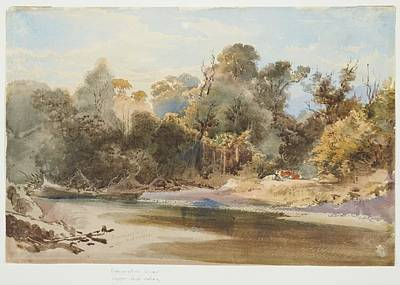 Pakuratahi, Upper Hutt Valley, 1868, By Nicholas Chevalier. Art Print by Celestial Images