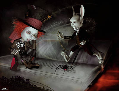 Mad Hatter Mixed Media - Wrong Story Pal by G Berry