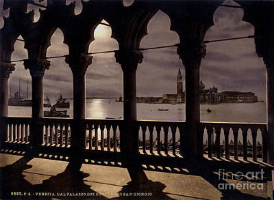 Venice Ca Painting - Palace By Moonlight by Celestial Images