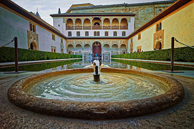 Photograph - Palace Courtyard Alhambra by Adam Rainoff