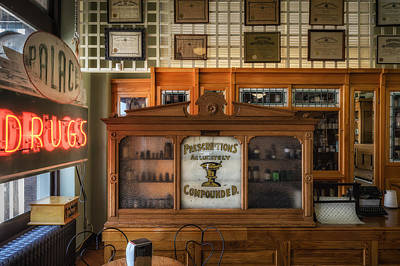 Palace Drugstore Art Print by James Barber