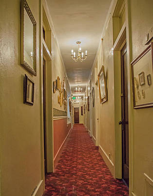 Photograph - Palace Hotel Hallway by Allen Sheffield