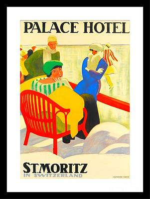 Lodging Painting - Palace Hotel St Moritz Emil Cardinaux 1920 by Peter Gumaer Ogden