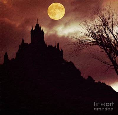 Lord Of The Rings Painting - Palace Of Dracula By Sarah Kirk by Sarah Kirk