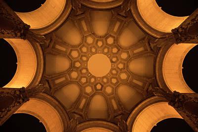 Photograph - Palace Of Fine Art Rotunda Ceiling At Night by Scott Cunningham