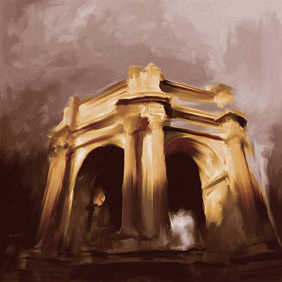 U.s History Painting - Palace Of Fine Arts 552 3 by Mawra Tahreem