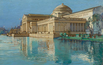 Reflecting Water Painting - Palace Of Fine Arts by Childe Hassam