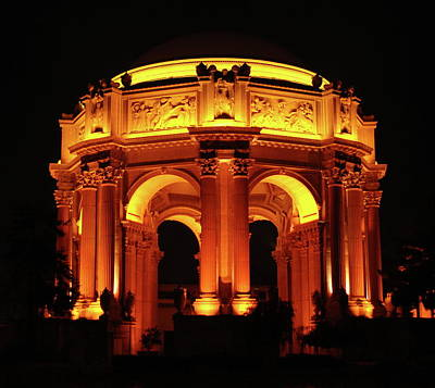 Photograph - Palace Of Fine Arts - Dome At Night by Lawrence Pratt