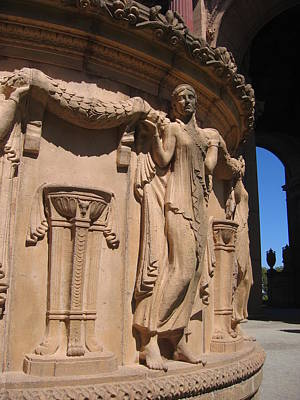 Palace Of Fine Arts Maiden In San Francisco Art Print
