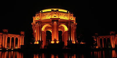 Photograph - Palace Of Fine Arts - Night Profile by Lawrence Pratt