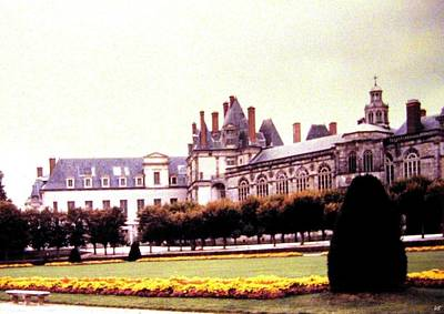Photograph - Palace Of Fontainebleau 1955 by Will Borden