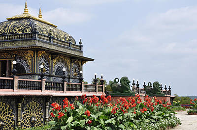 Palace Of Gold Art Print by Vijay Sharon Govender