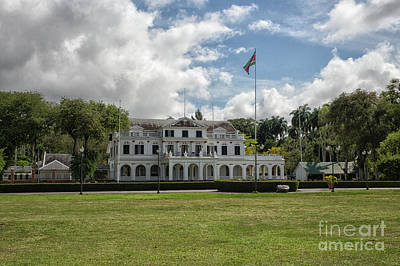 Photograph - Palace Of President In Paramaribo by Patricia Hofmeester