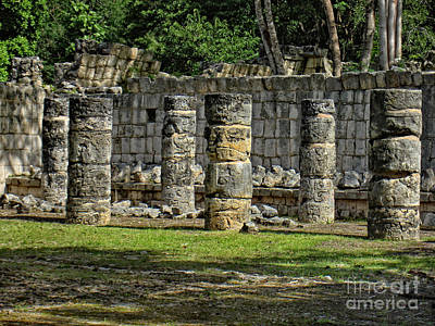 Palace Of The Sculptured Columns - Chichen Itza - Mexico. Art Print
