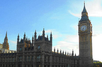 Photograph - Palace Of Westminster And Big Ben by Irina Sztukowski