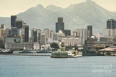 Rio De Janeiro Photograph - Palace On Ilha Fiscal In The Harbour Of Rio De Janeiro And Downtown Skyline At The Background, Rio D by Dani Prints and Images