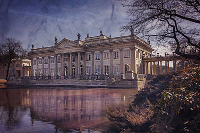 Palace On The Water  Warsaw Art Print