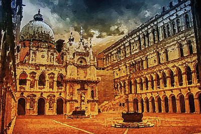 Digital Art - Palace Painting by PixBreak Art