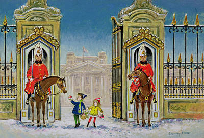 Buckingham Palace Painting - Palace Presents by Stanley Cooke