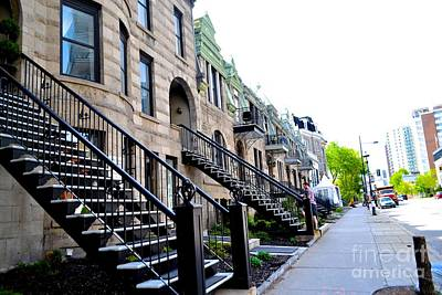Montreal Neighborhoods Photograph - Palace Steps  by Shelly Blancq
