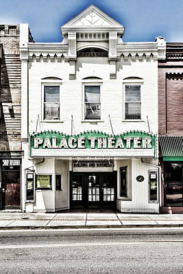 Photograph - Palace Theater Sign by Sharon Popek