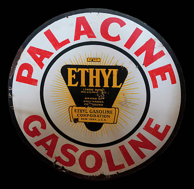 Photograph - Palacine Gasoline Sign by Chris Flees