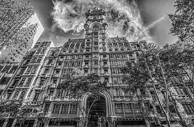 Photograph - Palacio Barolo, Buenos Aires, Grayscale by Venetia Featherstone-Witty