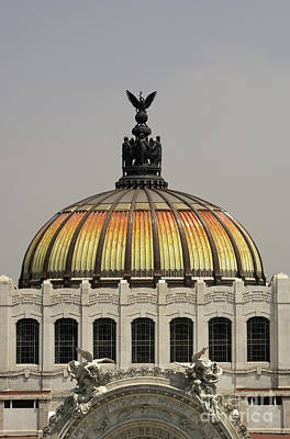 Photograph - Palacio De Bellas Artes Dome Mexico City by John  Mitchell