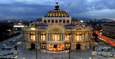 Digital Art - Palacio De Bellas Artes Mexico by Rafael Salazar